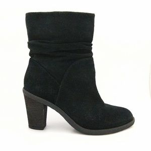 Vince Camuto suede scrunched mid-calf boots